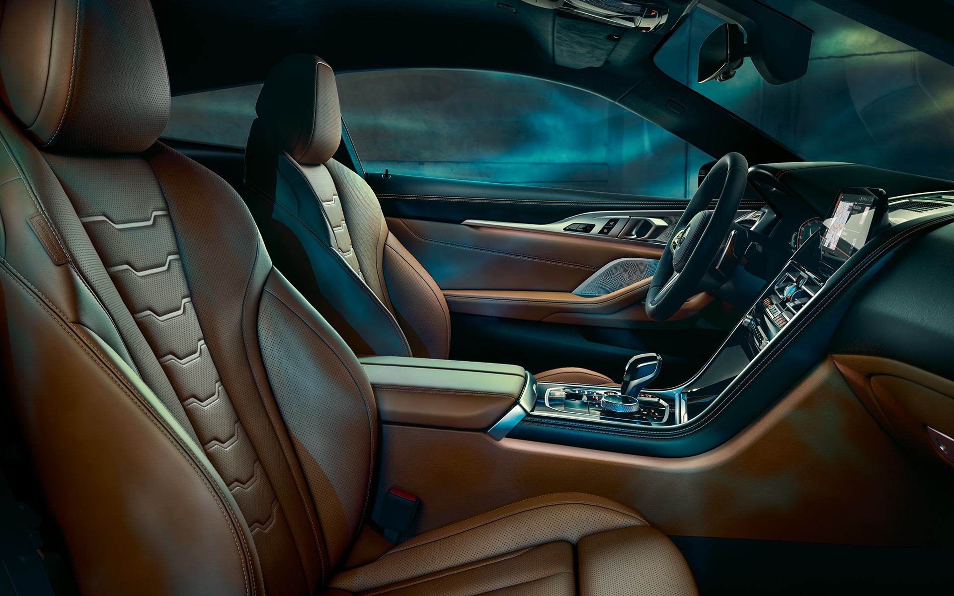 The interior of the BMW 8 Series Coupé, focused on cockpit.